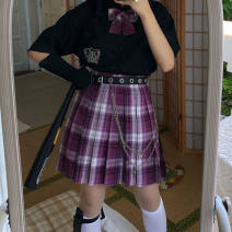 skirt Autumn 2020 S, M Zige 43cm Short skirt High waist A-line skirt