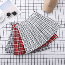 skirt Autumn of 2019 S M L XL Short skirt Versatile High waist Pleated skirt lattice Type A 18-24 years old 91% (inclusive) - 95% (inclusive) Guolanti polyester fiber Pleated button zipper stitching Other polyester 95% 5% Pure e-commerce (online only)
