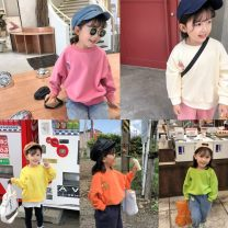 Sweater / sweater Other / other Yellow, light green, orange, rose, apricot, [0] female 80cm,90cm,100cm,110cm,120cm,130cm spring and autumn nothing Korean version routine No model cotton Solid color Class B Cotton liner