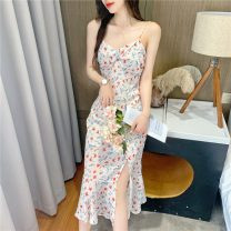 Women's large Summer 2021 Picture color S M L XL Dress singleton  commute Socket Sleeveless Decor Retro V-neck Yingduo language 25-29 years old longuette Other 100% Pure e-commerce (online only) other