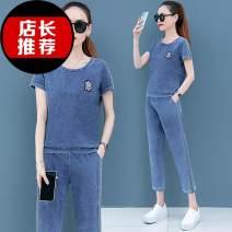 Casual suit Summer 2020 Blue stripe suit, red stripe suit M. L, XL, XXL, XXXL, 4XL, quantity finite element