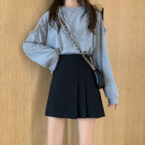 skirt Spring 2020 S,M,L Short skirt commute High waist A-line skirt Solid color Type A 18-24 years old 81% (inclusive) - 90% (inclusive) other Other / other Korean version