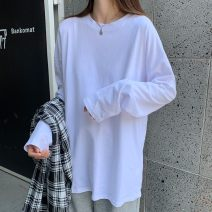 T-shirt Black, white, gray, white hole, white plush, black plush, pantyhose S below 95 kg, m below 105 kg, l below 120 kg, XL below 130 kg, 2XL below 140 kg, 3XL, price increases from time to time Autumn 2020 Long sleeves Crew neck easy Regular routine commute cotton 96% and above 18-24 years old