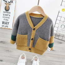 Sweater / sweater 80cm 90cm 100cm 110cm 120cm other male Grey green leisure time No model Single breasted routine V-neck nothing Ordinary wool other Other 100% Long sleeves Autumn 2020 spring and autumn 12 months 9 months 18 months 2 years 3 years 4 years 5 years 6 years old
