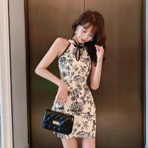 cheongsam Spring of 2019 S,M,L Decor Sleeveless Short cheongsam Retro 25-35 years old Other / other
