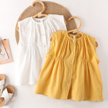 shirt female Other / other summer Sleeveless Korean version Solid color cotton Doll Collar Other 100% 51TX0981 other Three, four, five, six, seven, eight Chinese Mainland White, yellow