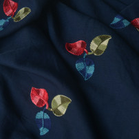 Fabric / fabric / handmade DIY fabric Beibai embroidered colorful leaves