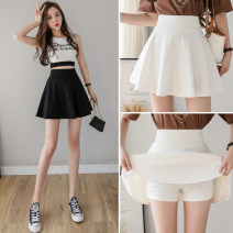 skirt Spring 2021 S,M,L,XL,2XL White, black Short skirt commute High waist A-line skirt lattice Type A 18-24 years old 31% (inclusive) - 50% (inclusive) other