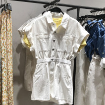 Jumpsuit / pants 96% and above shorts cotton middle-waisted Sweet white S,M,L routine Summer 2021