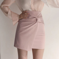 skirt Summer 2020 XS,S,M,L Pink, white, black Short skirt commute High waist skirt Solid color Type A 18-24 years old yxhh2108 91% (inclusive) - 95% (inclusive) Chiffon Other / other polyester fiber zipper Korean version 401g / m ^ 2 (inclusive) - 500g / m ^ 2 (inclusive)