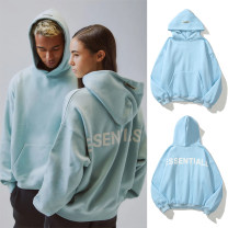 Sweater Youth fashion supcable Light blue, pink S,M,L,XL Solid color Socket Plush Hood autumn easy leisure time teenagers tide routine Fleece  cotton Drawstring No iron treatment More than 95% Side seam pocket European and American style