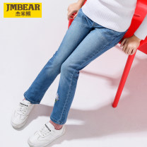 trousers Jmbear / Jamie bear female 120cm 130cm 140cm 150cm 160cm 170cm Denim spring and autumn trousers leisure time There are models in the real shooting Jeans Leather belt middle-waisted cotton Don't open the crotch 893535101x Class B 893535101x Autumn of 2019 Chinese Mainland