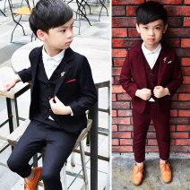 Suit / Blazer 90, 100, 110, 120, 130, 140, 150 Other / other male There are models in the real shooting other winter Solid color A button routine cotton Class B Cotton 85% others 15% Cotton liner Three, four, five, six, seven, eight, nine, ten, eleven