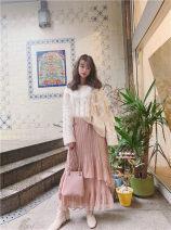skirt Autumn 2020 Average size White, black, pink