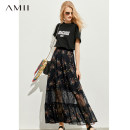 skirt Summer of 2019 155/64A/S 160/68A/M 165/72A/L 170/76A/XL Coffee black longuette commute High waist A-line skirt Broken flowers Type A 25-29 years old More than 95% Amii polyester fiber Patchwork printed lace Simplicity Polyester 100% Same model in shopping mall (sold online and offline)