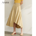 skirt Autumn 2020 160/68A/M,.,165/72A/L,150/60A/XS,155/64A/S,170/76A/XL Tan, description, dark at night Middle-skirt commute High waist A-line skirt Solid color Type A 25-29 years old 1204TM0886 71% (inclusive) - 80% (inclusive) Amii polyester fiber Asymmetry Simplicity