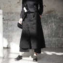 Casual pants black S,M,L Autumn of 2018 Ninth pants Straight pants Natural waist original thickening 18-24 years old 96% and above K-550 Simple BLACK cotton Bandage cotton Asymmetry