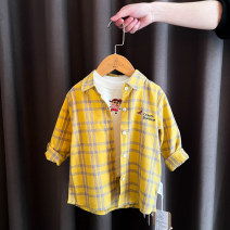 shirt Yellow Nini plaid shirt, orange Nini plaid shirt, pink Nini plaid shirt, rose red Nini plaid shirt, purple Nini plaid shirt Bella female 80cm,90cm,100cm,110cm,120cm,130cm All seasons Long sleeves leisure time lattice other