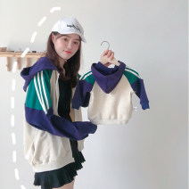 Parent child fashion Spot green hooded sweater, mother's green Raglan Long Sleeve T, green splicing Long Sleeve T, pink splicing Long Sleeve T, green splicing one-piece garment Mother and son Female, male, neutral Bella tzqzz08171610 spring and autumn leisure time tzqzz08171610