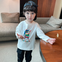 T-shirt Bella 73cm,80cm,90cm,100cm,110cm,120cm,130cm neutral spring and autumn Long sleeves leisure time There are models in the real shooting other Cartoon animation Class A 6 months, 12 months, 9 months, 18 months, 2 years old, 3 years old, 4 years old, 5 years old