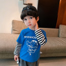T-shirt Blue NEW 2 T, yellow new 2 T, white male New 2 T, Black NEW 2 T, gray male New 2 T, green male New 2 T, white Red NEW 2 T, White Blue NEW 2 T, yellow male New 2 t Bella 80cm,90cm,100cm,110cm,120cm,130cm currency spring and autumn Long sleeves Crew neck leisure time nothing other other other