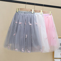 skirt 100cm,110cm,120cm,130cm,140cm,150cm,160cm Skirt Pink, skirt white, skirt grey, skirt grey, skirt white, Skirt Pink Other / other female Polyester 100% summer skirt leisure time cotton NCQAW601 Class B