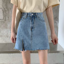 skirt Summer 2020 S [90-100kg], m [100-110kg], l [110-120kg], XL [120-135kg], 2XL [135-150kg], 3XL [150-165kg], 4XL [165-175kg], 5XL [175-200kg] Light blue, black Short skirt commute High waist Irregular Type A 18-24 years old 81% (inclusive) - 90% (inclusive) Korean version