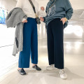 Casual pants Peacock blue (in stock), black (in stock) XL,2XL,3XL Autumn of 2019 trousers Wide leg pants Natural waist commute routine 31% (inclusive) - 50% (inclusive) other Simplicity