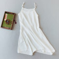 Dress Summer of 2019 Average size Mid length dress singleton  commute Crew neck Loose waist Solid color Socket A-line skirt camisole 25-29 years old Type A Other / other Retro 51% (inclusive) - 70% (inclusive) hemp