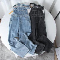 Jeans Autumn 2020 Denim blue, smoke grey XS,S,M,L trousers High waist rompers thickening