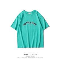 T-shirt Youth fashion Black, lake blue, white gray routine S,M,L,XL MAKE IT RAIN Short sleeve Crew neck easy Other leisure Four seasons G053XXXXA0045 teenagers routine tide 2021 other printing cotton other Fashion brand