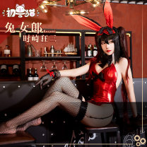 Cosplay women's wear Other women's wear goods in stock Over 14 years old Crazy three rabbit girl clothing, crazy three gradual change double horsetail comic 50. M, s, one size fits all Full payment