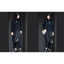 Casual pants black 160/64A,165/68A 96% and above Ju Jia Ju Zuo hemp