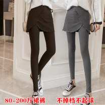 Leggings Winter 2020 Black spring and autumn, dark grey spring and autumn, light grey spring and autumn, black plush, dark grey plush, light grey plush M,L,XL,2XL,3XL,4XL thickening Capris / Capris JIK02152 other 96% and above