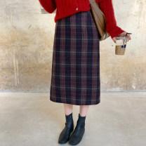 skirt Winter 2020 S,M,L goods in stock commute High waist lattice