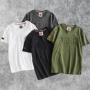 T-shirt Youth fashion Ar818 army green, ar818 iron gray, ar818 black, ar818 white routine M,L,XL,2XL,3XL Landema Short sleeve Crew neck easy Other leisure summer AR818 Cotton 100% youth routine American leisure Cotton wool 2021 other printing cotton Chinese culture washing Designer brand