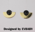 Ear Studs Alloy / silver / gold RMB 20-24.99 Other / other Color white black brand new Europe and America female goods in stock Fresh out of the oven
