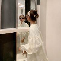 Dress Spring 2020 White, pink XS,S,M Mid length dress singleton  Long sleeves commute Socket 18-24 years old Korean version 19X163