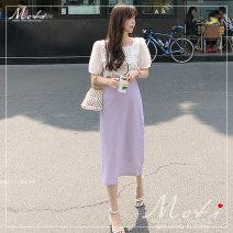 skirt Summer 2021 S,M,L,XL Mid length dress Versatile High waist 18-24 years old 51% (inclusive) - 70% (inclusive)