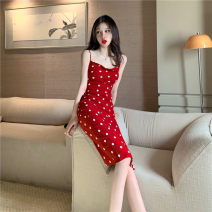 Dress Summer 2020 gules S,M,L Miniskirt singleton  Sleeveless commute other High waist other Socket One pace skirt camisole Type H Korean version 31% (inclusive) - 50% (inclusive) other other