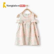 Dress Pink, green female Tong Tai 80cm,90cm,100cm,110cm Other 100% summer other Vest skirt T02X1465 Class A 12 months, 9 months, 18 months, 2 years, 3 years, 4 years