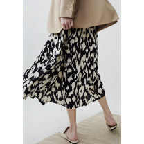 skirt Spring 2021 S, M Black spot, black 7 working days delivery longuette grace High waist A-line skirt Decor More than 95% Special clothes other
