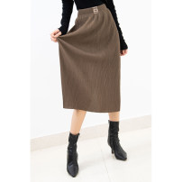 skirt Spring 2021 Average size Coffee spot, grey blue spot, grey spot, black spot Mid length dress High waist other Solid color More than 95% Special clothes other