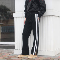 Casual pants Crossing mountains and seas Youth fashion When the store is closed, contact customer service to go to new store 1. When the store is closed, contact customer service to go to new store 2 S. M, l, XL, XS women's routine trousers Other leisure easy Micro bomb Four seasons teenagers tide
