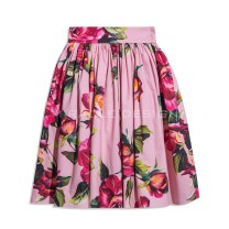 skirt Summer of 2018 38,36,40 Peach blossom powder Mid length dress street High waist A-line skirt other Type A 25-29 years old 20180101-04 More than 95% other Miracle Design cotton Stitching, printing Europe and America