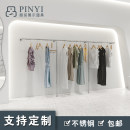 Clothing display rack [silver wire drawing] is 1.2m long * 1.6m high, [silver wire drawing] is 1.5m long * 1.6m high, [silver wire drawing] is 2.4m long * 1.6m high, [silver wire drawing] is 3M long * 1.6m high, [silver wire drawing] is 4m long * 1.6m high clothing stainless steel Quick face