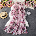 Dress Autumn 2020 Pink M, L Mid length dress Two piece set Long sleeves commute stand collar High waist Decor Socket A-line skirt routine Others 18-24 years old Type A Korean version 30% and below other other