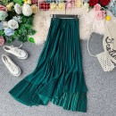 skirt Summer 2021 Average size Khaki, green, light brown, black Mid length dress commute High waist Pleated skirt Solid color Type A 18-24 years old 31% (inclusive) - 50% (inclusive) other other Ruffles, pleats, folds, asymmetry, waves, stitching