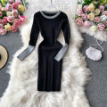 Dress Autumn 2020 Black, khaki, dark blue, light gray, pink, dark red Average size Middle-skirt singleton  Long sleeves commute square neck High waist Solid color Socket A-line skirt routine Others 18-24 years old Type A Korean version 30% and below other other