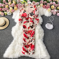 Dress Winter 2020 white S,M,L,XL,2XL Mid length dress singleton  Long sleeves commute square neck High waist Decor Socket A-line skirt routine Others 18-24 years old Type A Korean version 30% and below other other